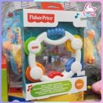 ของเล่นเขย่ามือ พร้อมกระจก เสริมทักษะ Fisher-Price ลิขสิทธิ์แท้ นำเข้าถูกต้อง