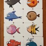 จิ๊กซอว์ 2 ชิ้น ชุดรูปปลา ( ก่อนวัยเรียน 1 ขวบ 9 เดือนขึ้นไป)