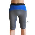กางเกงออกกำลังกายผู้ชาย Men Fitness สีเทาคาดฟ้า