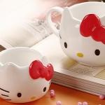 แก้วน้ำติดโบว์ Hello Kitty