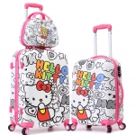 กระเป๋าเดินทางล้อลาก Hello Kitty สีขาว < พร้อมส่ง >