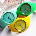 นาฬิกาข้อมือ Colorful ดีไซน์น่ารัก สดใส สายเป็นซิลิโคน
