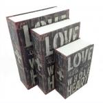 ตู้เซฟหนังสือ ลายหนังสือ Love with your whole heart < พร้อมส่ง >
