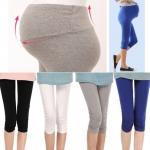 กางเกงเลคกิ้งคนท้อง ขาสามส่วนปลายขารูด เนื้อผ้านิ่มใส่สบาย