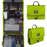 กระเป๋าใส่อุปกรณ์ห้องน้ำ คุณภาพสูง ใส่อุปกรณ์อาบน้ำ แขวนได้ สำหรับเดินทาง ท่องเที่ยว (สีเขียว)