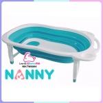 NANNY อ่างอาบน้ำพับเก็บได้ สีฟ้า