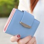 กระเป๋าสตางค์ใบสั้น Prettyzys tabby สีฟ้า