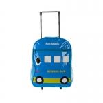 [มีตำหนิ] กระเป๋านักเรียนล้อลาก สำหรับเด็กเล็ก ลายรถบัส