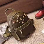 กระเป๋าเป้หนังงานสวย งานเทห์ สไตล์ mcm ขนาดมินิ backpack สีเขียว ราคา 990 บาท Free Ems