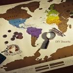 แผนที่โลกขูดได้ Scratch Map
