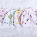 หมวกเด็กทารกแรกเกิด ถึง 3 เดือน ผ้ายืด Cotton คละลาย