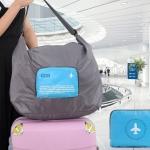 DINIWELL กระเป๋าเดินทางพับได้ สะพายพาดลำตัวได้ ปรับสายสะพายได้ เสียบที่จับของกระเป๋าเดินทางได้ ผลิตจากโพลีเอสเตอร์กันน้ำ มีซิปรูดตอนพับเก็บ