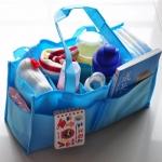 กระเป๋า bag in bag ช่องแบ่งของใช้เด็ก มีสีฟ้า/ชมพู