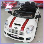 รถแบตเตอรี่เด็ก mini cooper สีขาว 2 มอเตอร์