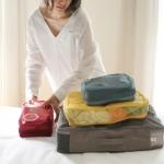 ชุดจัดกระเป๋าเดินทางตาข่าย 4 ใบ จัดระเบียบกระเป๋าเดินทาง ท่องเที่ยว ใส่ได้ทั้งเสื้อผ้า, กางเกง, อุปกรณ์ห้องน้ำ, เครื่องสำอาง, อุปกรณ์ไอที ฯลฯ