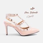 รองเท้าส้นสูงไซส์ใหญ่ Metal Strappy Pointed Toe ไซส์ 40-44 EU แบรนด์ CHOWY รุ่น CH0133