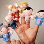 [ขายส่ง 12 เซต] หุ่นนิ้วมือ ชุดครอบครัวสุขสันต์ Set 6 คน แบรนด์ NanaBaby