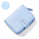 กระเป๋าสตางค์ใบสั้น FOREVER YOUNG BEAUTY S. สีฟ้า