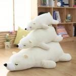 ตุ๊กตาหมี Polar Bear ตุ๊กตาหมีขั้วโลกนุ่มนิ่ม
