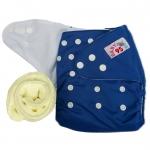 กางเกงผ้าอ้อมกันน้ำ+แผ่นซับไมโครฯหนา3ชั้น Size 3-16 kg.-Dark Blue