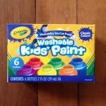 Crayola Washable Kid's Paint สีน้ำ 6 สี พร้อมใช้ในขวดพลาสติกอย่างดี ปลอดสารพิษ ล้างออกได้