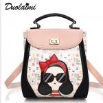 กระเป๋าเป้ Duolaimai หนังพิมพ์ลายชัด สวย ราคา 1,090 บาท Free Ems
