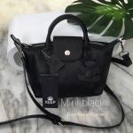 กระเป๋า KEEP ทรง longchamp รุ่น Duo Sister Mini - Pure Black