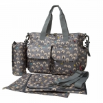 Ecosusi กระเป๋าสัมภาระสำหรับคุณแม่ กระเป๋าใส่ผ้าอ้อม แขวนรถเข็นเด็กได้ หิ้ว หรือสะพายไหล่ได้ (Grey Cute Tree)