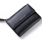 กระเป๋าสตางค์ใบสั้น FOREVER YOUNG COVER สีดำ