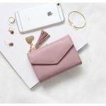 กระเป๋าสตางค์ใบกลาง PRETTY LETTER สีชมพู