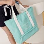 กระเป๋าสะพายผ้าแคสวาส เสียบกระเป๋าเดินทางได้ มีช่องใส่สองชั้นบน-ล่าง กระเป๋าเล็กแยก เหมาะมากสำหรับเดินทาง ท่องเที่ยว