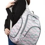 Ecosusi กระเป๋าเป้ ขนาดใหญ่ ใส่สัมภาระสำหรับคุณแม่ มาพร้อมแผ่นรองเปลี่ยนผ้าอ้อม, สายคล้องรถเข็น, ช่องเก็บความร้อน-เย็น ทั้งสองด้าน