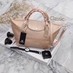 กระเป๋า KEEP Longchamp Style Duo Sister Rose Gold ราคา ใบใหญ่ 1,490 Free Ems