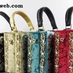 กระเป๋าถือแฟชั่น สไตล์ NoLogo box crystal embellish