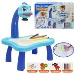 ชุดโต๊ะกิจกรรมการเรียนรู้การวาดภาพแบบโปรเจ็คเตอร์ Projector Painting สีฟ้า