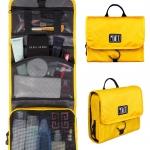 กระเป๋าใส่อุปกรณ์ห้องน้ำ คุณภาพสูง ใส่อุปกรณ์อาบน้ำ แขวนได้ สำหรับเดินทาง ท่องเที่ยว (สีเหลือง)