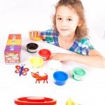 ชุดสีปลอดสารพิษ Baby Finger Paint Non-Toxic Color - 6 Colors