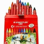 สีเทียน ขนาดจัมโบ้ กล่อง 12 สี STAEDTLER Jumbo Wax Crayons