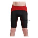 กางเกงออกกำลังกายผู้ชาย Men Fitness สีดำคาดแดง