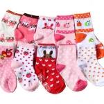 ถุงเท้าเด็กเล็ก หญิง 1-3 ปี มีกันลื่น พิมพ์ลายการ์ตูน แบรนด์ญี่ปุ่น