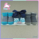 Set ถุงเท้าเด็กแรกเกิด แพ็คกล่อง 3 คู่ ส่งฟรี ลทบ.