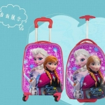 กระเป๋าเดินทางล้อลาก Frozen สีชมพู < พร้อมส่ง >