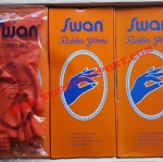 ถุงมือยางแม่บ้านสีส้ม ตรา SWAN COMFORT