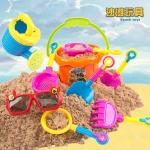ของเล่นตักทรายครบชุด สีสันสดใส พร้อมแว่นไร้เลนส์สำหรับคุณหนู
