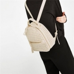 ZARA Braided Backpack With Details