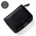 กระเป๋าสตางค์ใบสั้น FOREVER YOUNG BEAUTY S. สีดำ