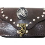 "LOVELY COWBOY HIDE WALLET SIZE 3.2"" X 5.2"" WITH CLASSIC DESIGN CLOSED"