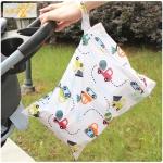 กระเป๋าใส่ผ้าเปียก ใส่กางเกงผ้าอ้อมรอซัก Baby Wet Bag