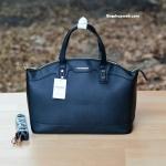 กระเป๋า MANGO SAFFIANO-EFFECT TOTE BAG สีดำ ราคา 1,090 บาท Free Ems