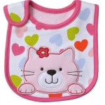 ผ้ากันเปื้อน ยี่ห้อ Carter 's ลายแมวหัวใจ